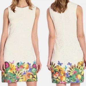 Desigual Lace Sheath Dress Floral Butterflies